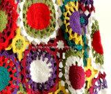 Robe faite sur commande de dessus de cardigan de Halter de chandail de crochet de main de cru de mode