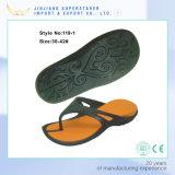 Frauen zwei Farben-Flipflops, EVA-Fußbekleidung-Hefterzufuhren