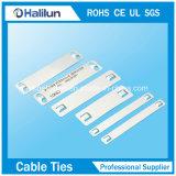 Plaque de signalisation de câble en acier inoxydable 304 à l'aide d'une barrette à cordon Barb Ss