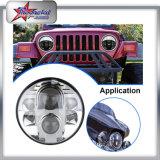 Linterna de Jk 80W LED para el carro del Wrangler del jeep, para SUV linterna de 7 pulgadas para el carro del envase