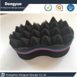 Popular cepillo de esponja para cabello torcedura mágica esponja de pelo