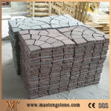Pedra de pavimentação redonda cinzenta, pedra de pavimentação redonda, pedra de pavimentação decorativa