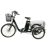 """250W 24"""" Batería de litio triciclo eléctrico de tres bicicletas de la rueda grande de adultos para personas mayores con homologación CEE E bicicletas"""