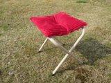 折られたキャンプの屋外の月の椅子