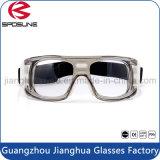 Occhiali di protezione di sicurezza trasparenti del laboratorio di sport della fabbrica di vetro di pallacanestro di gioco del calcio dell'ente infrangibile all'ingrosso di equitazione