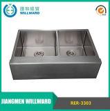 A mano Rer-3303 Grembiule Agriturismo in acciaio inox Kitchen Sink