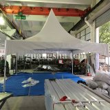 Wind Witte OpenluchtLuifel 5m van de Markttent van de Loods van Gazebo van de Tuin van de Tent van de Pagode