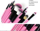 Комплект щетки состава синтетической ручки волос деревянной портативный оптовый с цветом мешка 6 PU