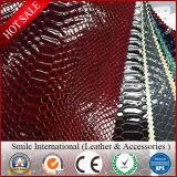 Дешевые выбитые оптовые продажи фабрики искусственной кожи PVC