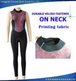 """Da veste """"sexy"""" do revestimento das mulheres do neopreno Wetsuit surfando de nylon de Fbric"""