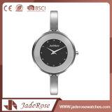 Mujeres Deportes Mini reloj de cuarzo de plata con impermeable