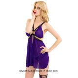 Bester verkaufender purpurrote Farben-fälliger Frauen Sleepwear