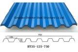 Hoja galvanizada acanalada Dfx del material para techos del metal de Qingdao
