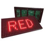 Solo módulo al aire libre rojo de la pantalla de visualización de LED del texto P10