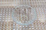 Hogar recipiente de vidrio. Placa de la fruta de vidrio. Tazón de vidrio