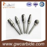 Bavures rotatoires de carbure de tungstène de qualité