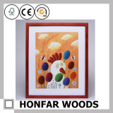 Cadre de tableau en bois rouge personnalisé de rectangle pour le décor de mur
