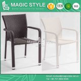 Patio silla de mimbre Rattan Silla Silla apilable Silla de Comedor (Magic Style)