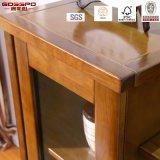 Chinesischer gelber Schrank des Lack-festes Holz Fernsehapparat-Standplatz-/Fernsehapparat (GSP13-011)