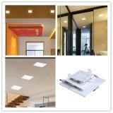 ultradünne quadratische der Decken-6W Panel-Lampe Lampen-Fabrik-Fieberhitze eingehangene der Qualitäts-LED