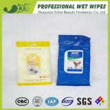 Shampooing bio nettoyant les lingettes humides pour les animaux domestiques