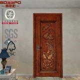 Luxus, der hölzerne einzelne Tür mit Blumen-Entwürfen (GSP2-092, schnitzt)