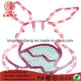 indicatore luminoso della corda del coniglio LED di 220V IP65 per la decorazione di Pasqua