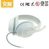 3.5mm au-dessus de l'écouteur stéréo d'écouteurs d'écouteur de jeu d'oreille avec la MIC