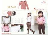 소녀의 긴 소매 면 t-셔츠