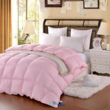 Крышка одеяла стороны /Double одеяла Colordown хлопко-бумажная ткани розовая
