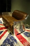 비행가 수고양이 가죽 소파 의자, 신고전주의 유럽식 Retro 최소한 디자이너 호화스러운 가죽 소파 팔걸이