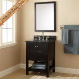 Шкаф тщеты ванной комнаты твердой древесины типа гостиницы отделкой Espresso Fed-355