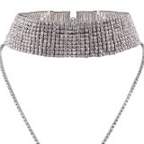 Fashion Luxury Glittering Full Rhinestone Multi To bush-hammer Collar Diamond During Choker Necklace Jewelry