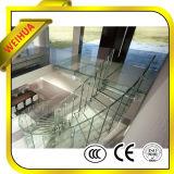 Escaleras de cristal templado del panel de 12m m con el certificado de CE