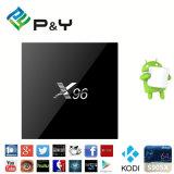 Cadre de l'androïde 6.0 TV de RAM de X96 S905X 1/2g