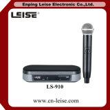 Microfono senza fili professionale della radio di frequenza ultraelevata di Ls-910 Micorpone Singolo-CH