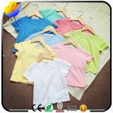 De klantgerichte Katoenen van Kinderen Zuivere T-shirt van de Kleur