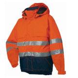 Логоса видимости зимы безопасности куртка бомбардировщика высокого изготовленный на заказ водоустойчивая