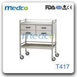 Systemabsturz-Karren-Medizin-Geräten-Laufkatze des Krankenhaus-S.S chirurgische