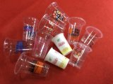 Plastikfarben-Drucken-Maschine des joghurt-Milch-Cup-sechs