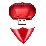 Palillo plástico del USB del balompié de memoria Flash del USB de la dimensión de una variable del corazón