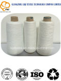 Amorçage de couture blanc cru tourné par 100% de polyester pour le tissu