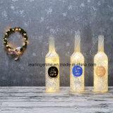 La botella LED de la luz de las estrellas enciende para arriba el regalo de la Navidad del cumpleaños de la decoración para el amigo