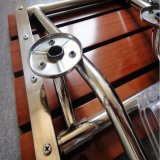 El plegable encima de silla de baño de madera del asiento de la ducha de los ancianos del taburete del cuarto de baño