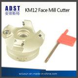 Cortador do moinho de face dos acessórios Km12 da estaca para a máquina do CNC