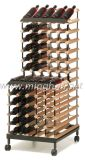 Karren-System legt hölzernes Metallstahlsupermarkt-Bildschirmanzeige-Regal-Zahnstange beiseite