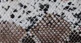 Горячая продавая напечатанная кожа драпирования PU змейки для мешка (H095A)