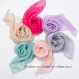 Écharpe en soie pleine couleur de la mode Fashion Lady (HWBS43)