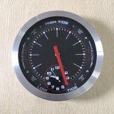 Reloj de pared de la marea del cuarzo del marco del metal de 10 pulgadas