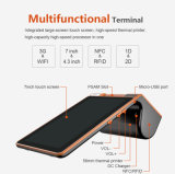 Zkc PC900 3G Dual Screen Android Handheld PDA RFID Leitor e gravador com impressora Câmera WiFi NFC